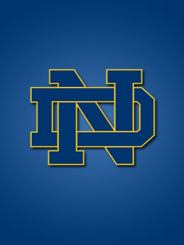 Notre Dame Logo iPhone Wallpaper