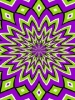 Optical Illusion Purple and Green