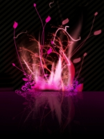 Pink Abstract Fire