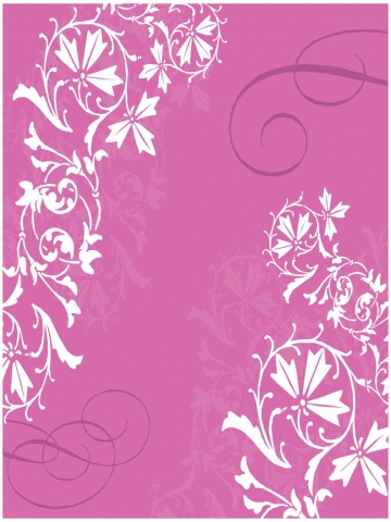 Pink Flower Swirls Wallpaper