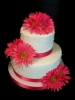 Pink Flowery wedding cake