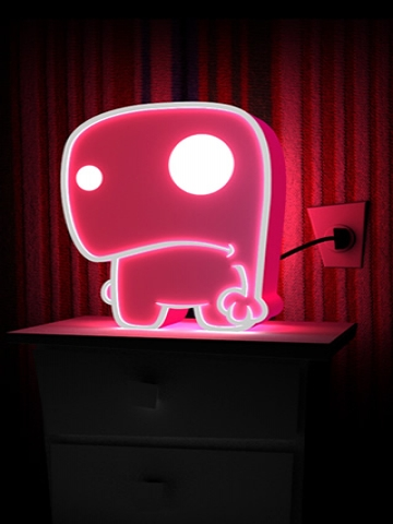Pink Monster Night Light Wallpaper