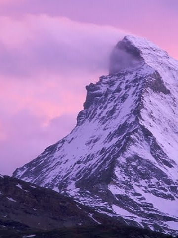 pink snow mountain wallpaper - photo #13