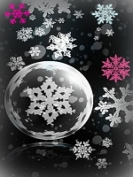 Pink and White Snowflakes