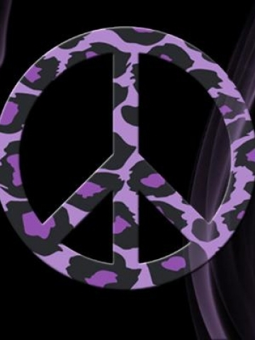 Purple Leopard Peace Sign Wallpaper | iPhone | Blackberry