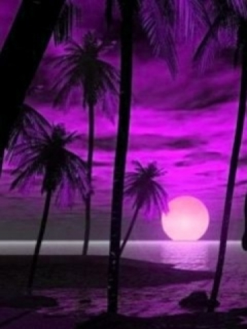 Purple Sunset Wallpaper