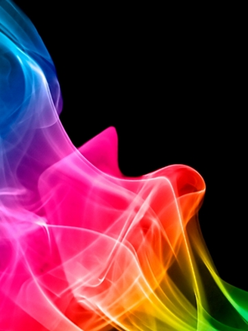 Rainbow Smoke Wallpaper