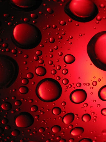 Red Water Drops Wallpaper