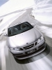 Saab Convertible in Snow
