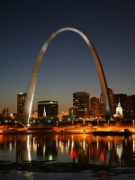 Saint Louis Gateway Arch Night