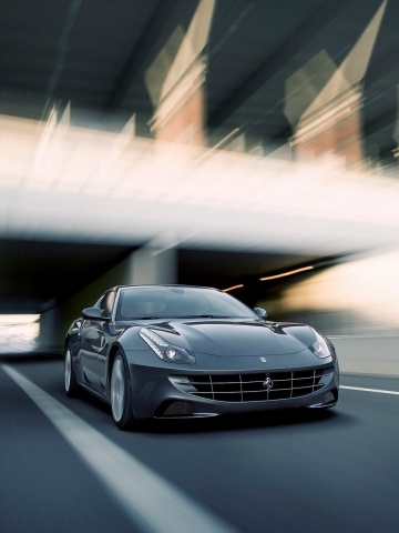 Silver Ferrari Wallpaper