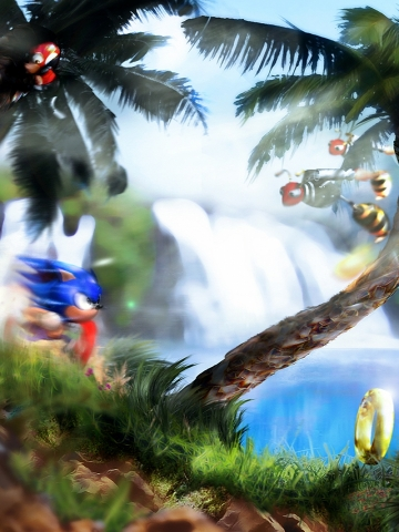 Sonic Running Wallpaper