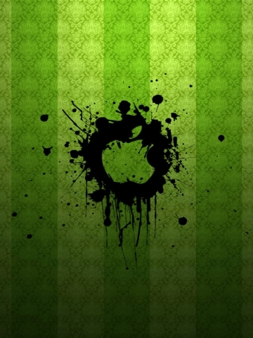 Splatter Green Wallpaper