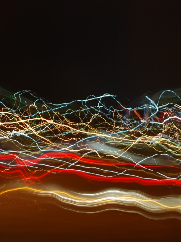 Squiggly Lights Wallpaper