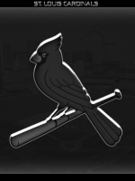St Louis Cardinals Black and White 3D
