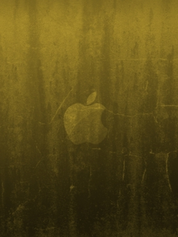 Stone Apple Logo Wallpaper