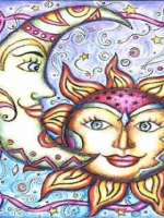 Sun and Moon Colorful