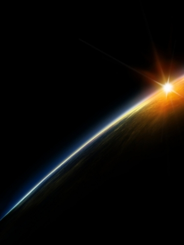 Sunrise from Space Wallpaper
