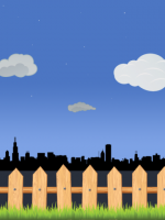 Sunset Skyline Vector