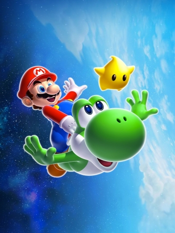 Super Mario and Yoshi Wallpaper