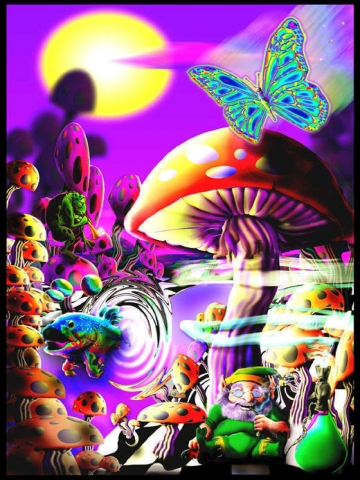 Trippy Pictures Mushrooms Trippy fantasy wallpaper