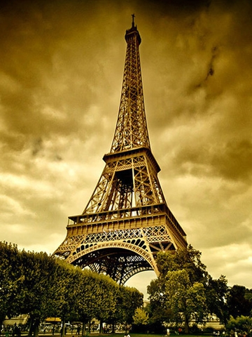 Vintage Eiffel Tower Wallpaper