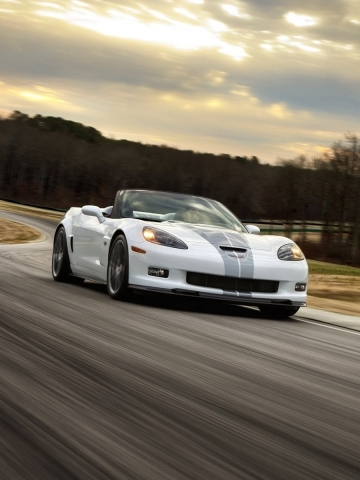 White Corvette Z06 Wallpaper