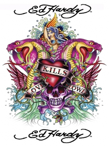 White Ed Hardy Wallpaper