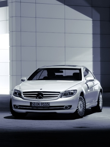 White Mercedes Wallpaper