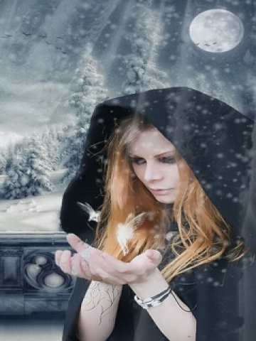 Wiccan in Snow Wallpaper