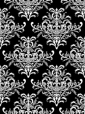 black and white floral wallpaper Wallpaper