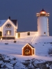 christmas light house