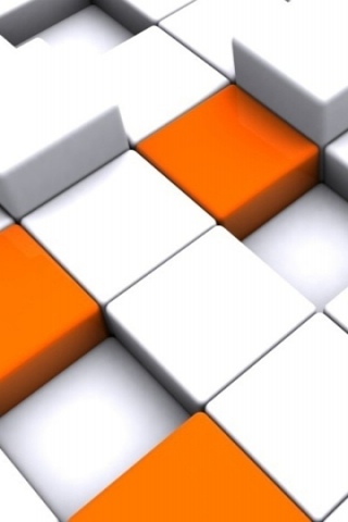 3d Orange Cubes Wallpaper