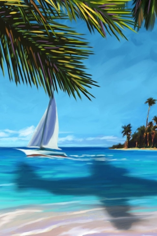 Island Painting Wallpaper