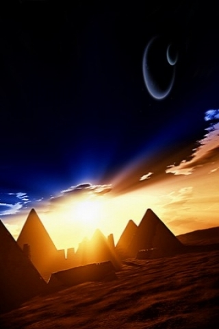 Moons Over Egypt Iphone Wallpaper