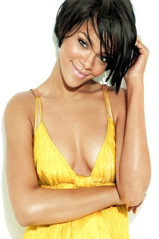 Rihanna Yellow Dress Wallpaper