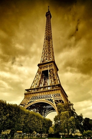 Vintage Eiffel Tower Paris Wallpaper