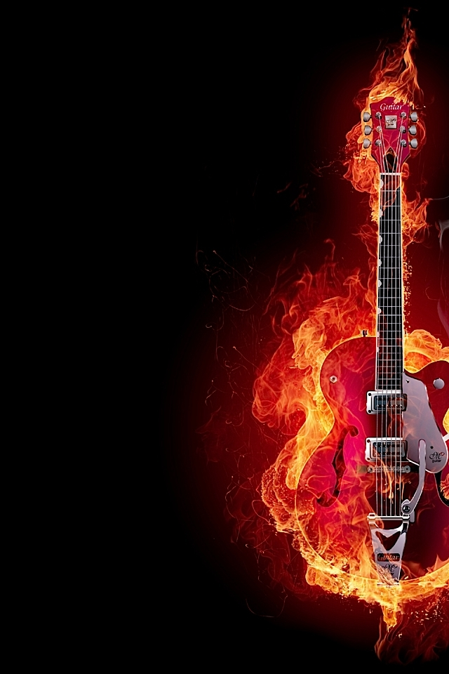 guitar on fire wallpapers - photo #3