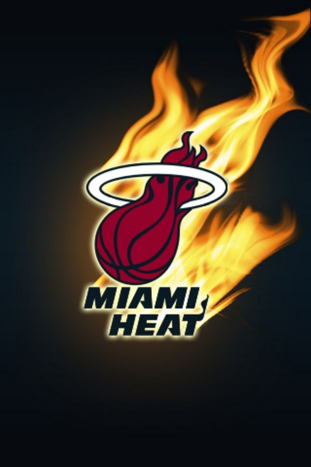 Miami Heat Logo Black Wallpaper